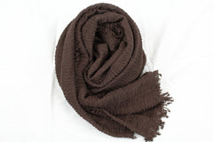 Premium Cotton Hijab - Dark Brown