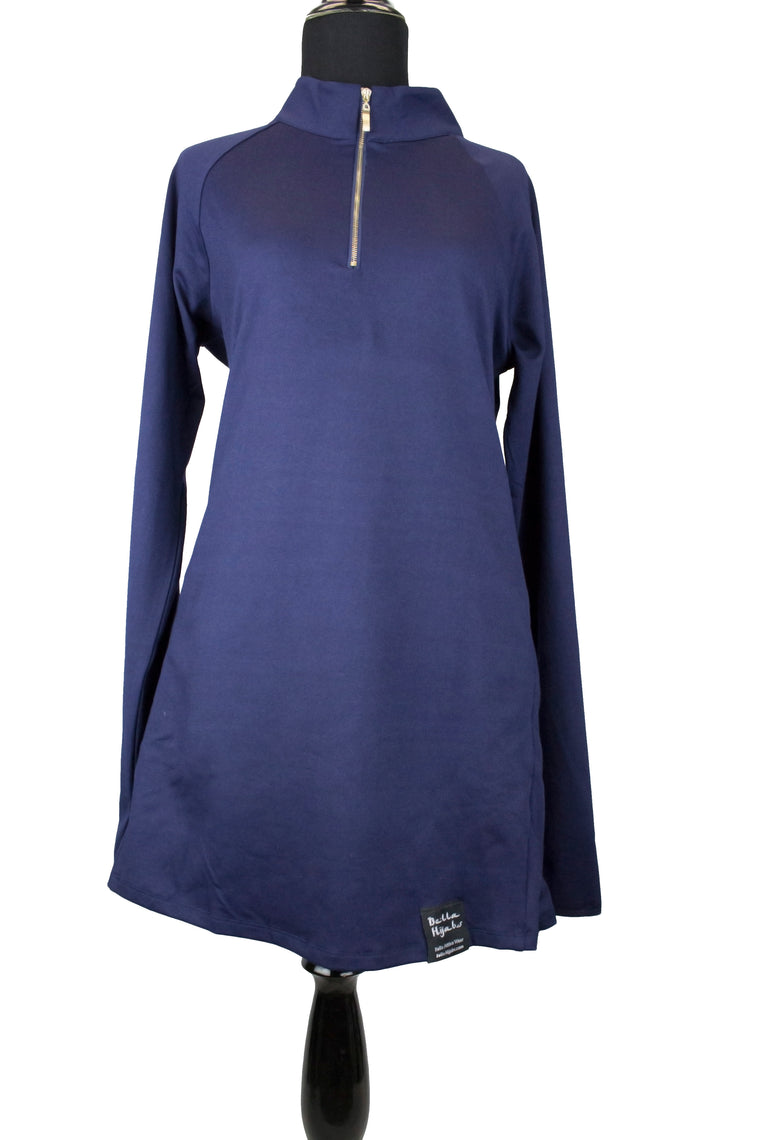 Attivo Half-Zip Workout Top - Navy