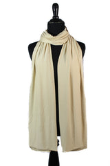 jersey hijab in gold creme