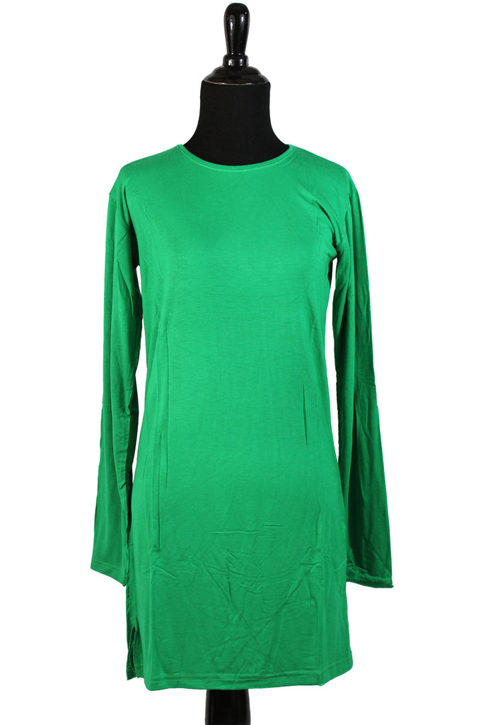 Extra Long Sleeve Basic Top - Green