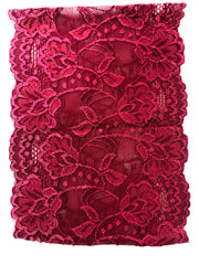 Lace Under Scarf Tube Cap - Wine