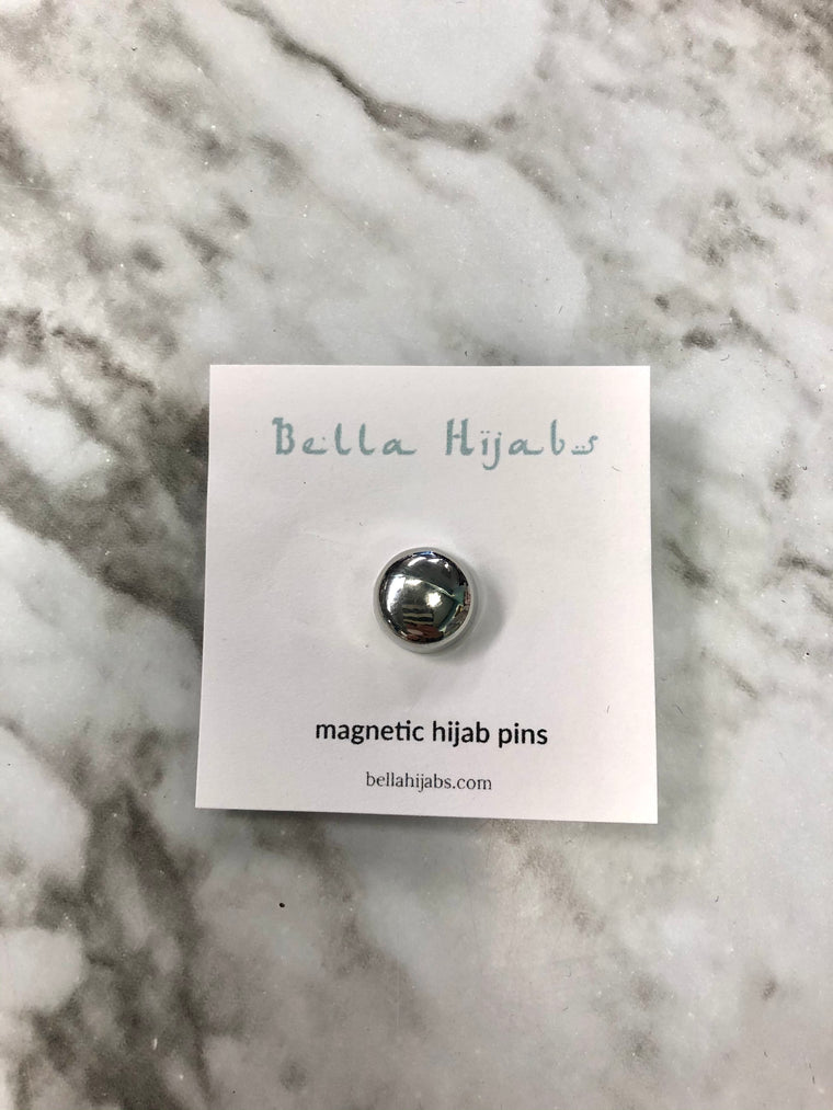 Glossed Magnetic Pin - Silver