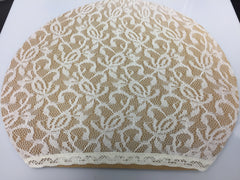 white lace undercap for hijab
