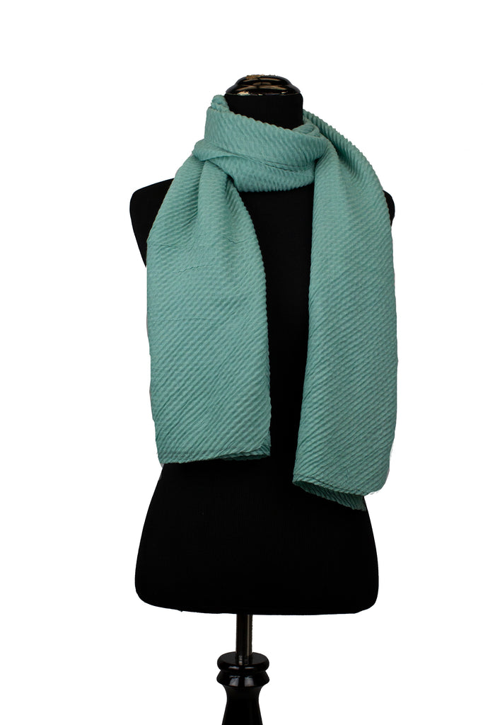 Ridged Hijab - Teal