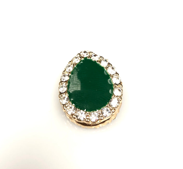 Pear Shaped Magnetic Pin - Forest Green