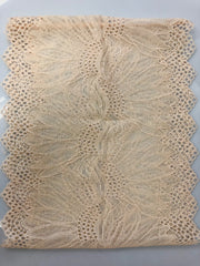 Lace Under Scarf Tube Cap - Creme