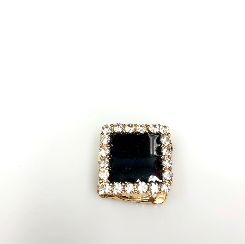 Square Shaped Magnetic Pin - Black