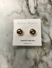 Two Glossed Magnetic Pins - Gold