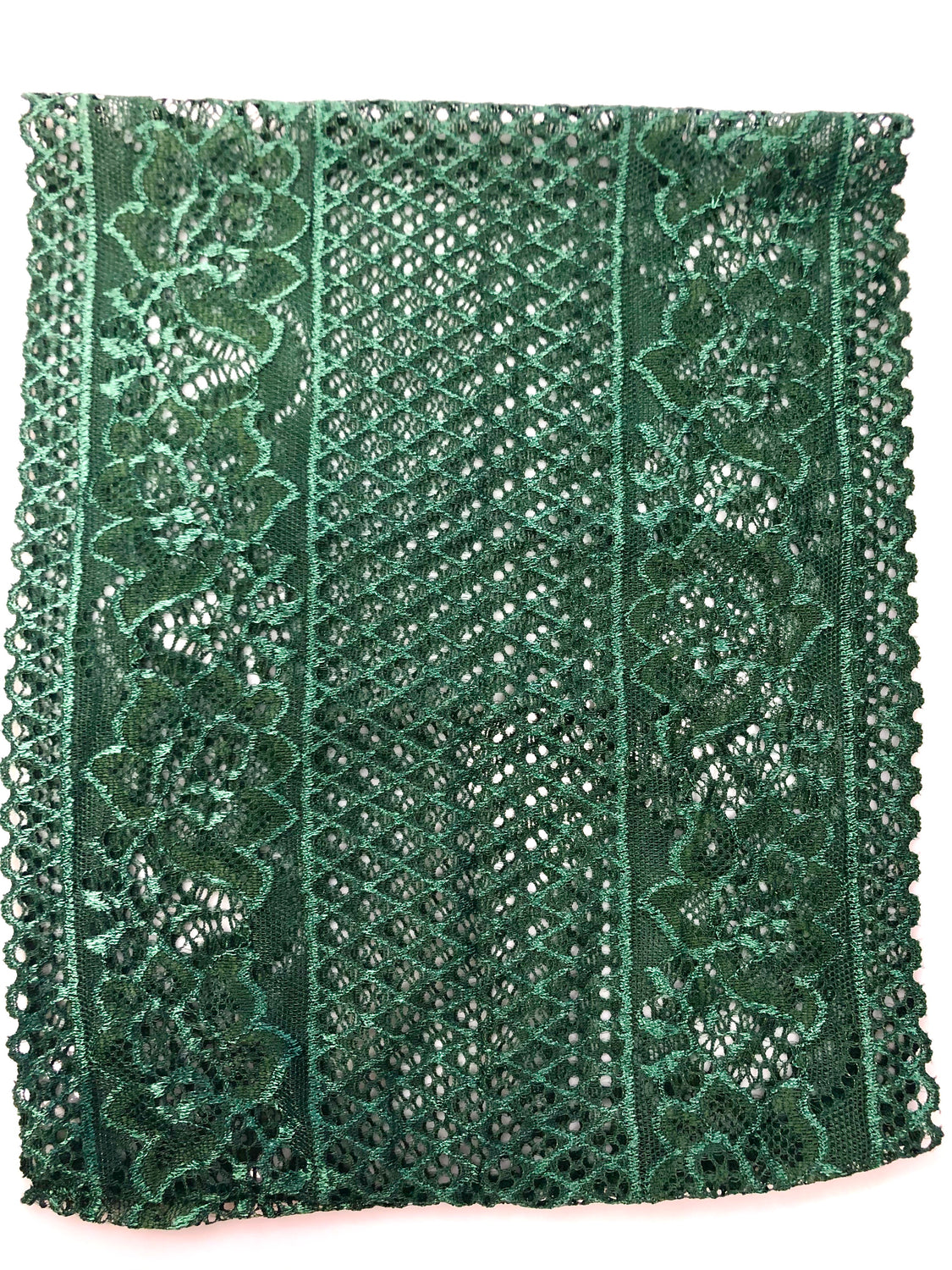 Lace Under Scarf Tube Cap - Forest Green