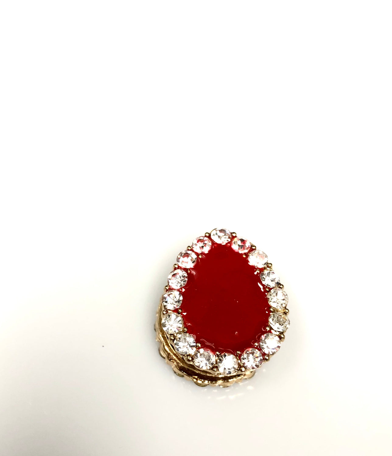 Pear Shaped Magnetic Pin - Maroon