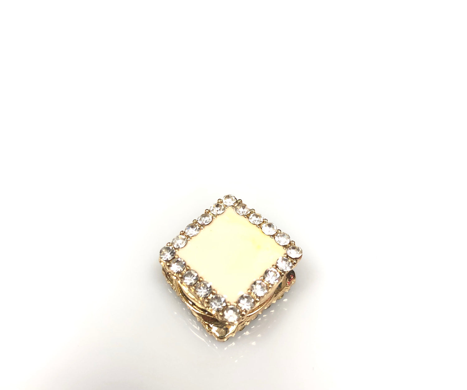Square Shaped Magnetic Pin - Cream