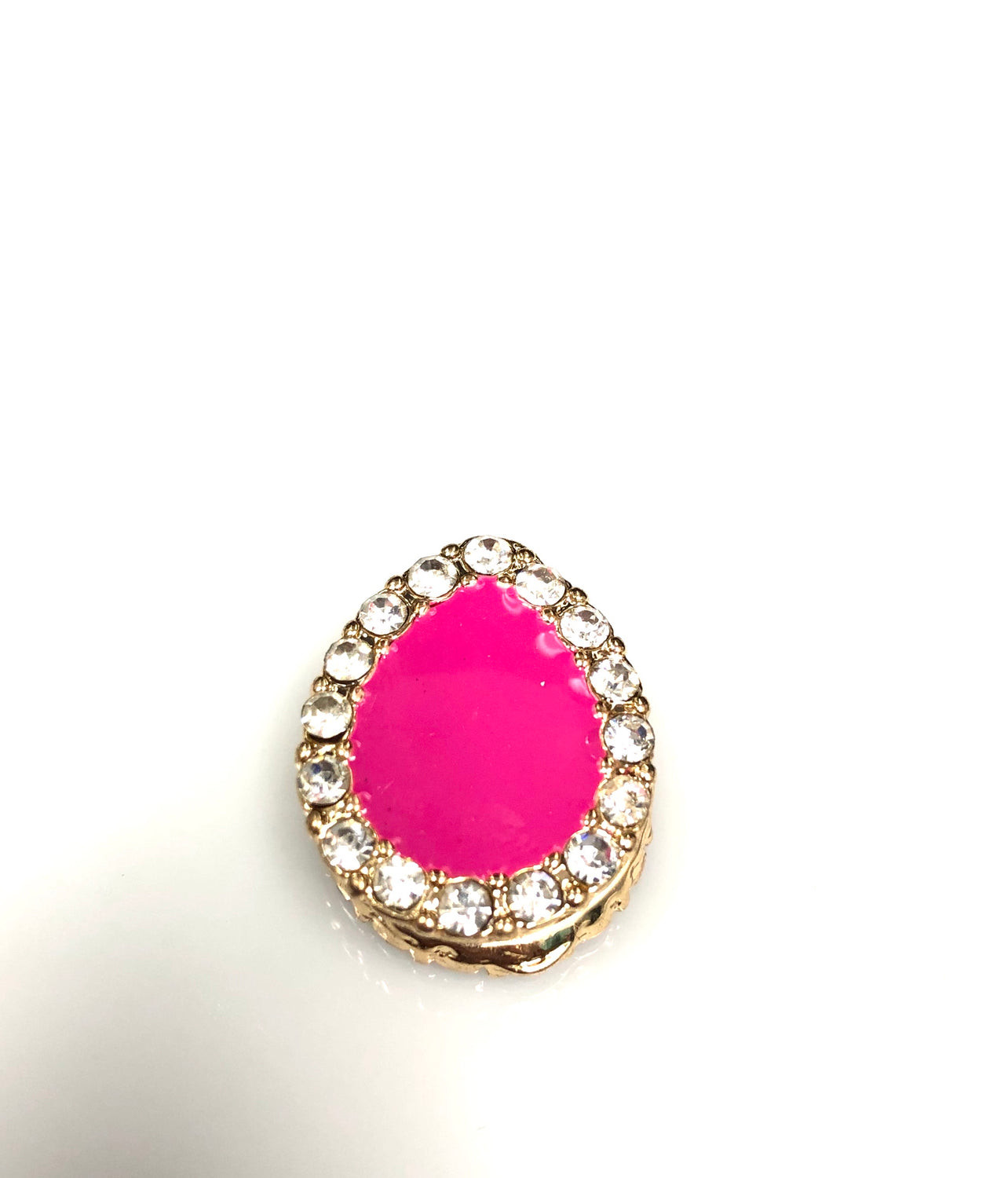Pear Shaped Magnetic Pin - Hot Pink