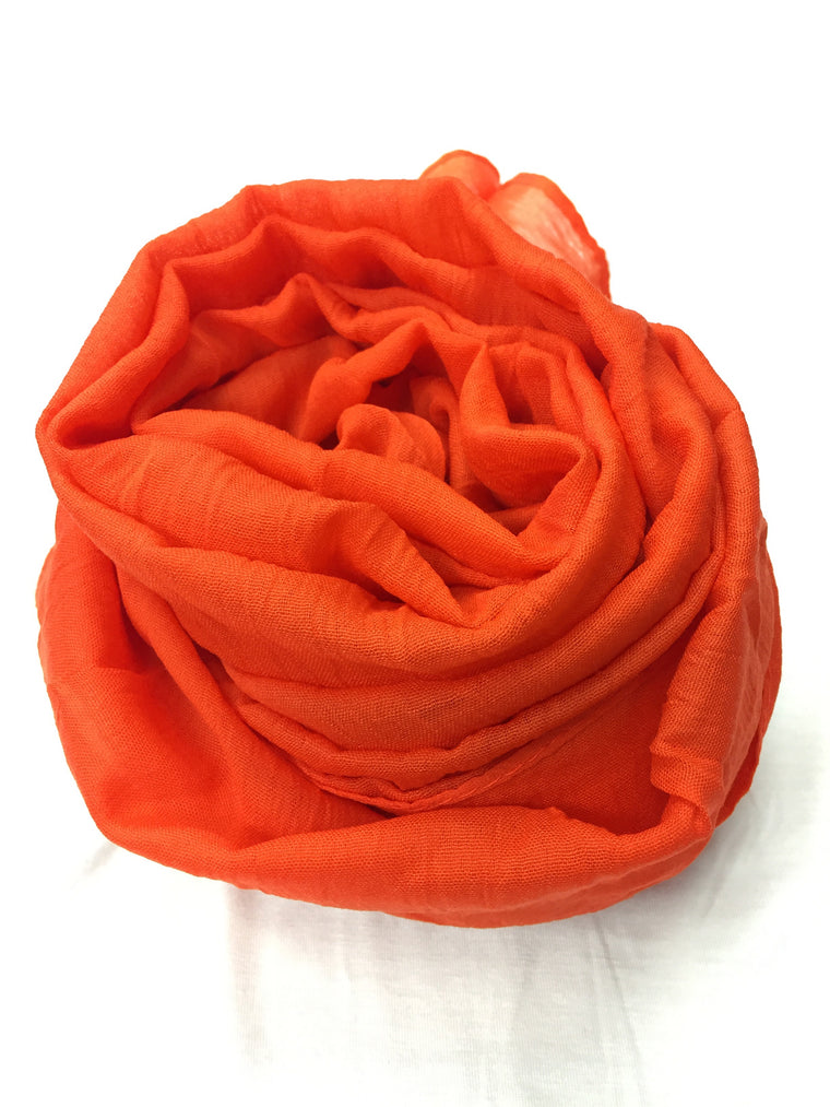 Crinkle Cotton Hijab - Orange