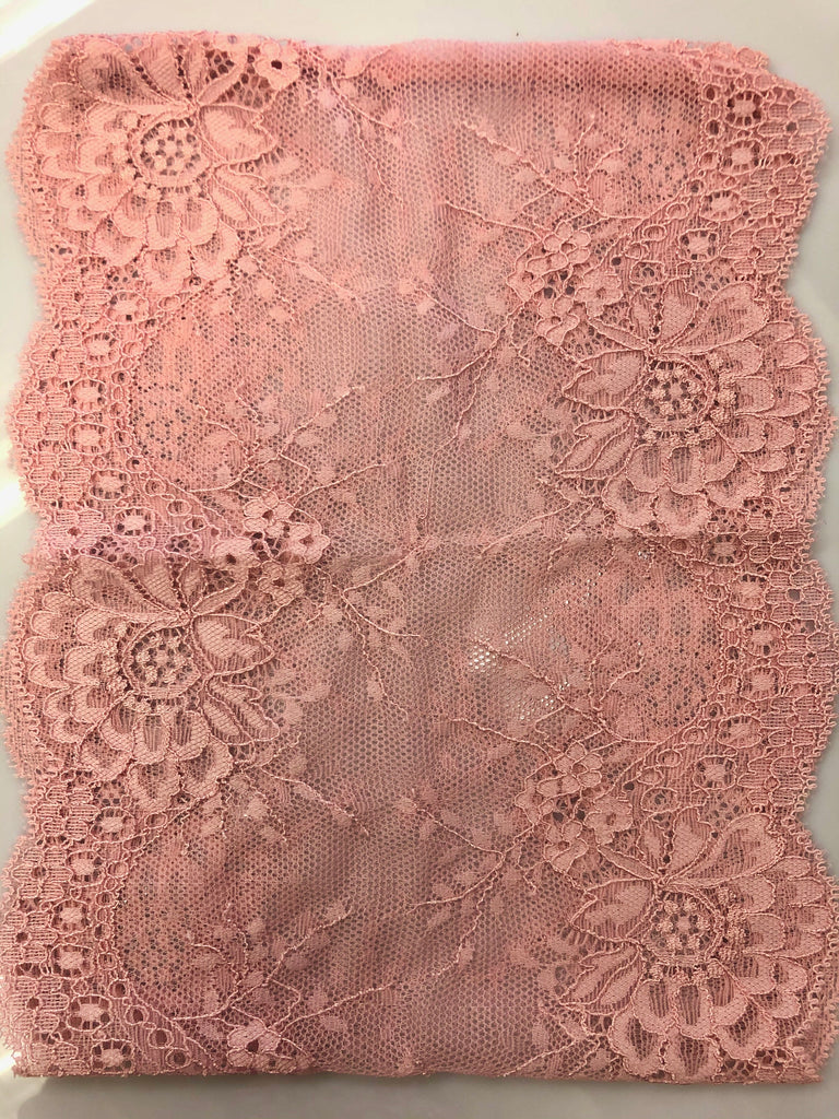 Lace Under Scarf Tube Cap - Dusty Pink