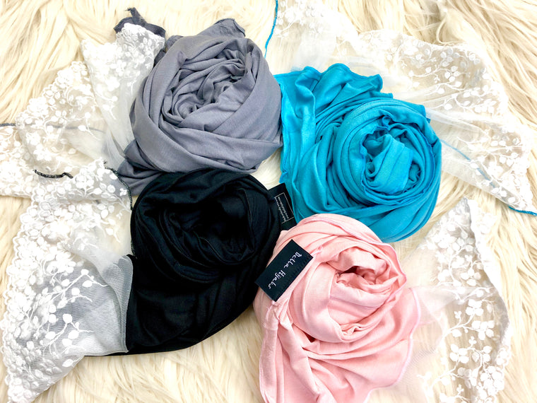 Jersey Lace Hijab Bundle
