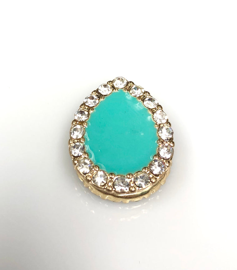 Pear Shaped Magnetic Pin - Teal