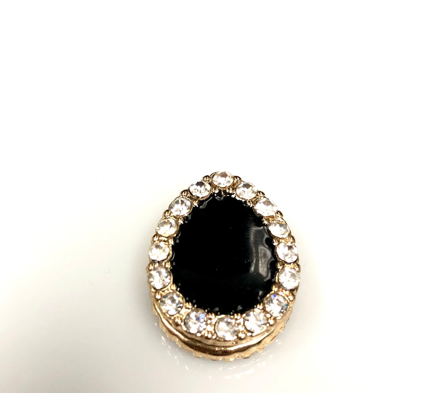 Pear Shaped Magnetic Pin - Black