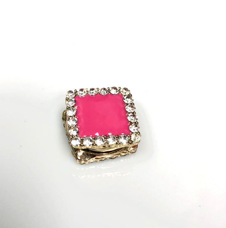 Square Shaped Magnetic Pin - Hot Pink