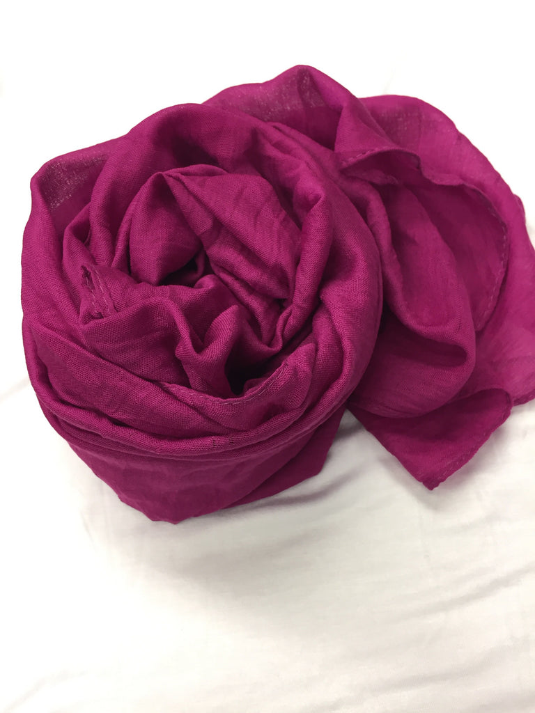 Crinkle Cotton Hijab - Grape