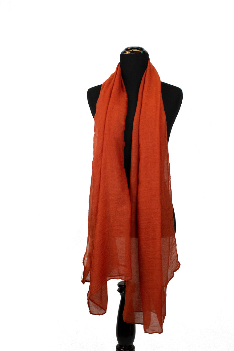 solid burnt orange viscose hijab