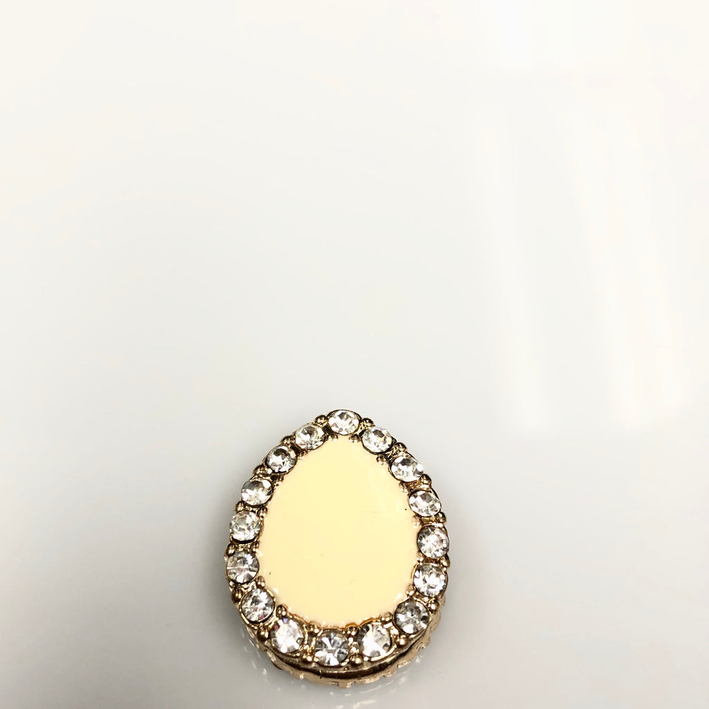 Pear Shaped Magnetic Pin - Creme