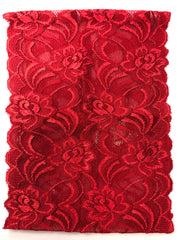 Lace Under Scarf Tube Cap - Red
