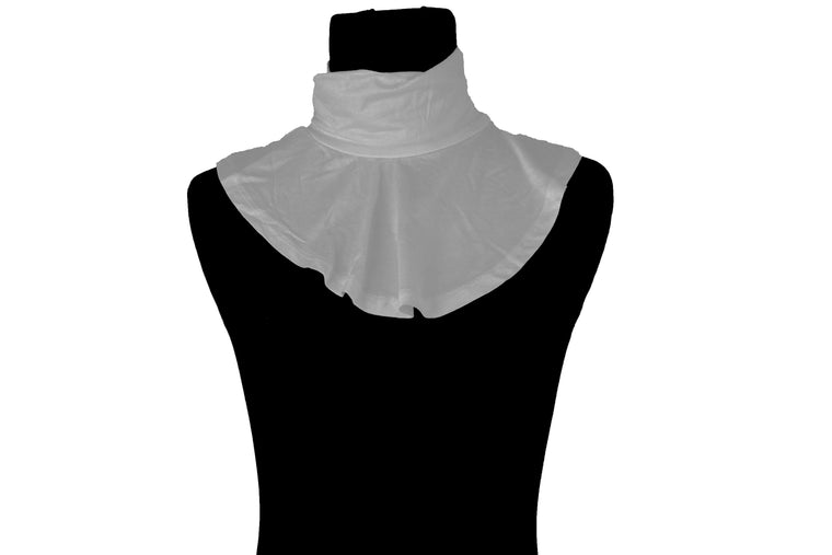 Jersey Mock Collar Neck Piece - Silver
