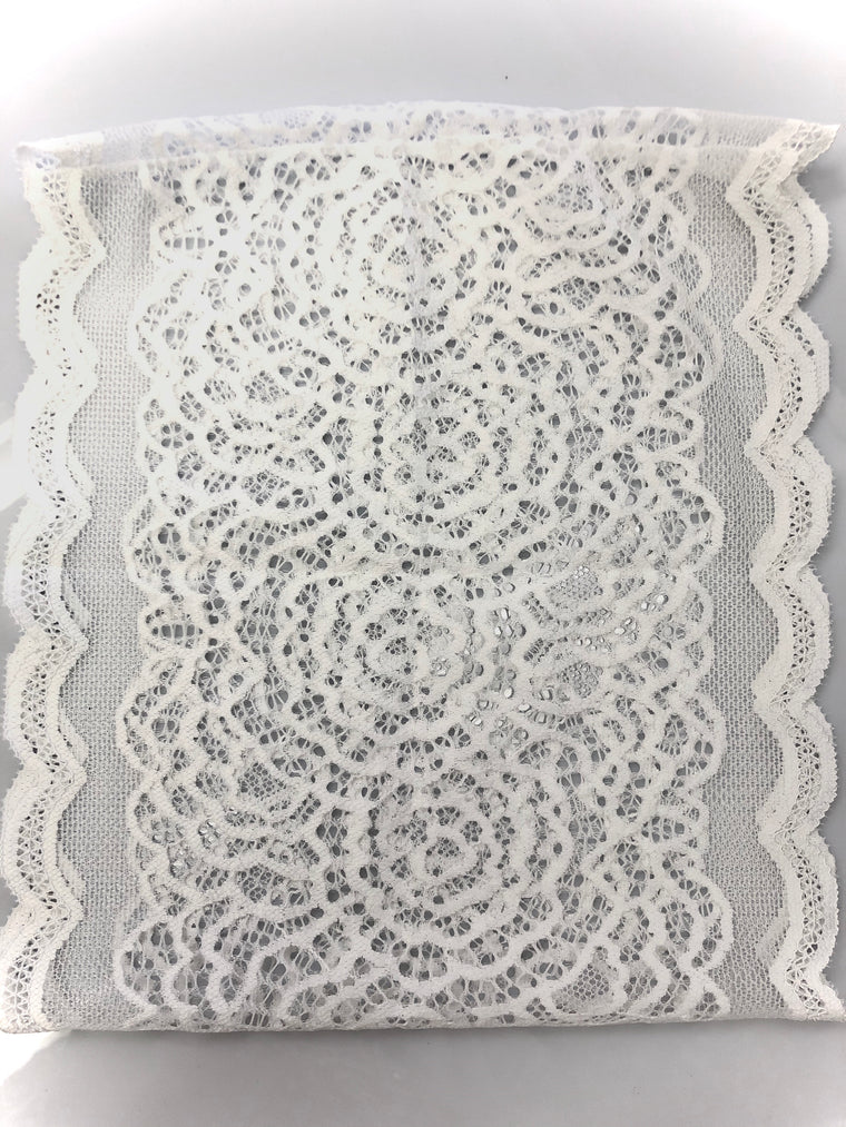 Lace Under Scarf Tube Cap - White