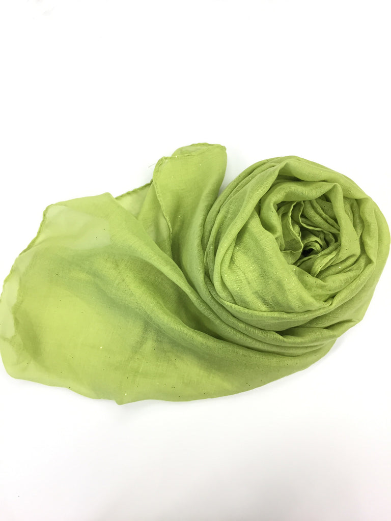 Glitter Viscose Hijab - Lime Green