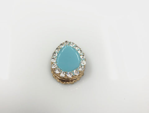 Pear Shaped Magnetic Pin - Tiffany Blue