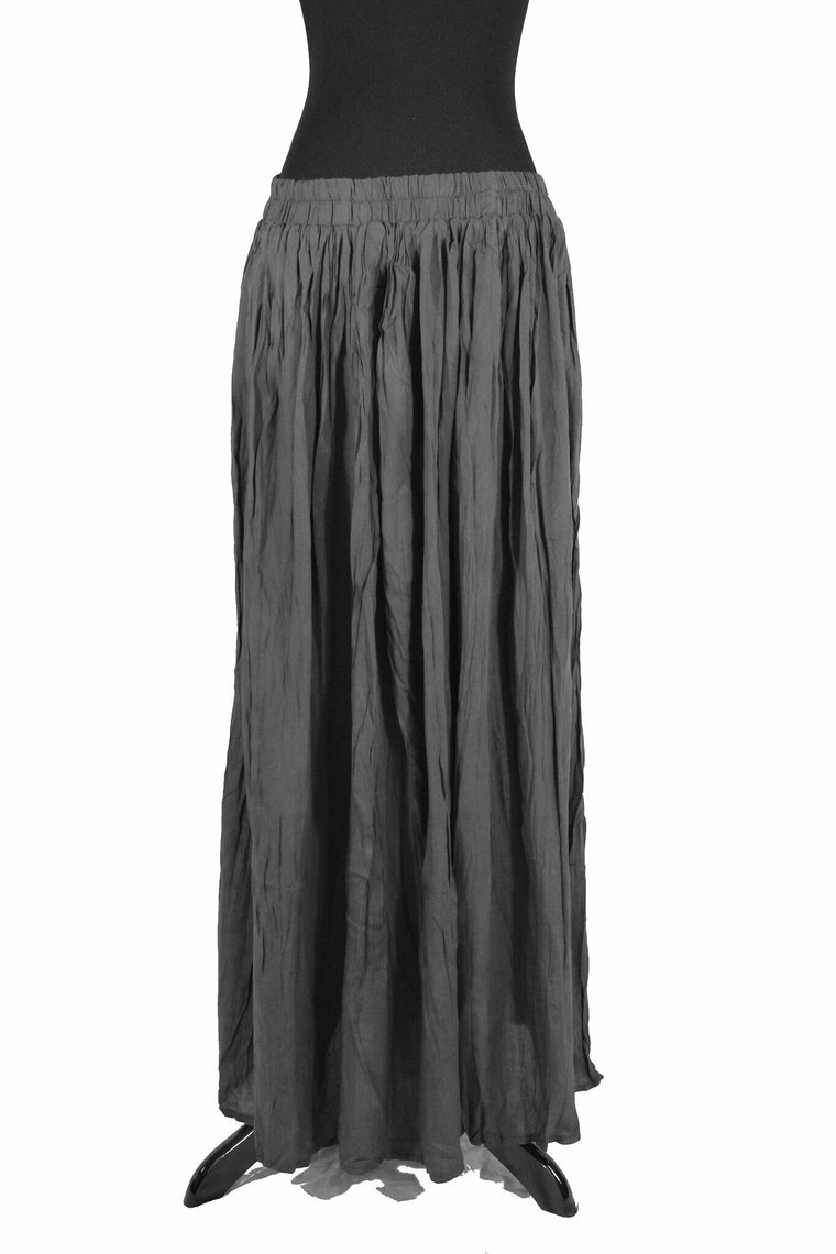 Pleated Maxi Skirt - Dark Gray