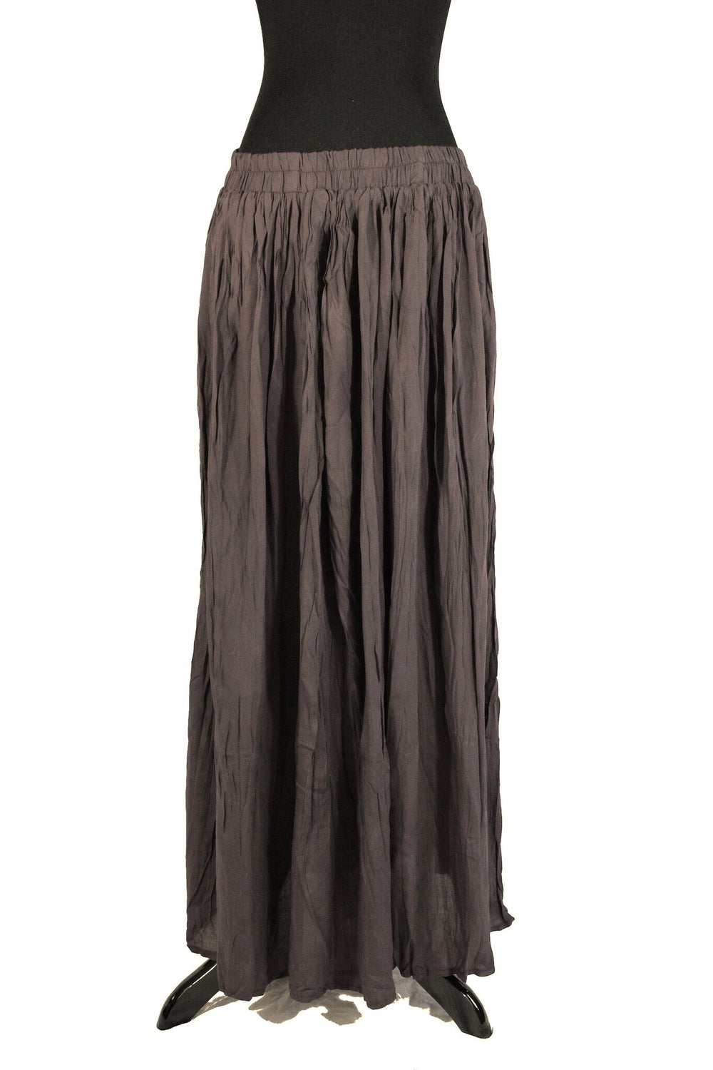 Pleated Maxi Skirt - Brown