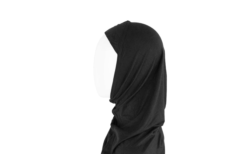 One Piece Slip on Jersey Hijab - Black
