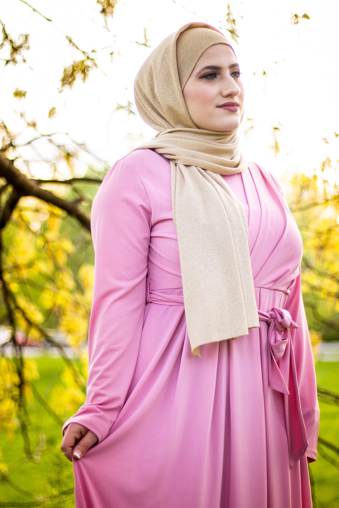gold shimmer jersey hijab