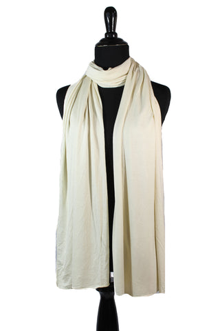 jersey hijab in ivory