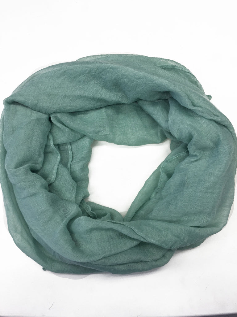 Crinkle Cotton Hijab - Light Mint Cream
