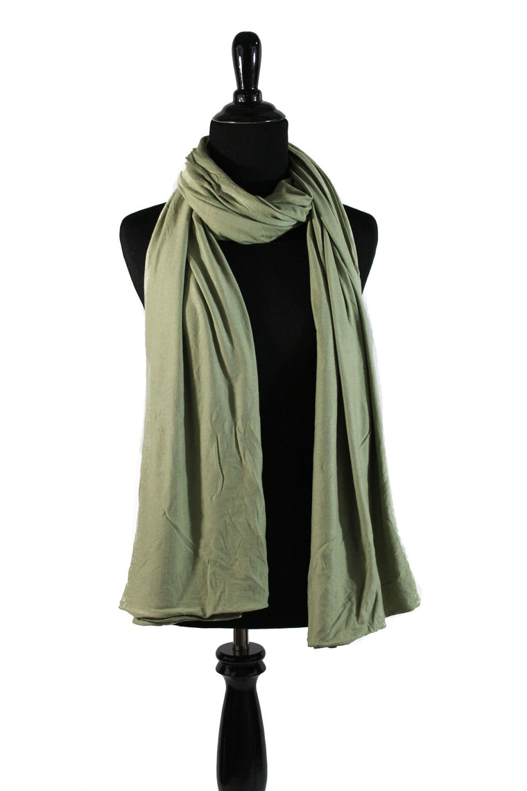 Maxi Jersey Hijab - Light Green