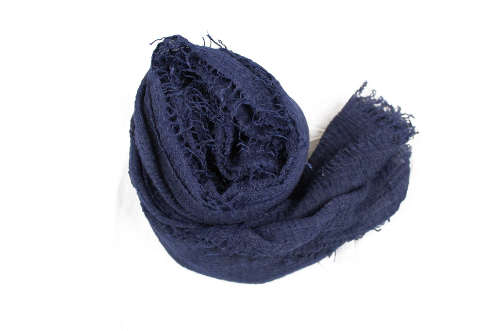 Premium Cotton Hijab - Navy Blue