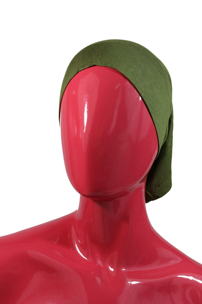 Jersey Under Scarf Tube Cap - Deep Olive Green