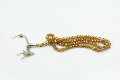 Crystal Tasbeeh (99 beads) - Gold
