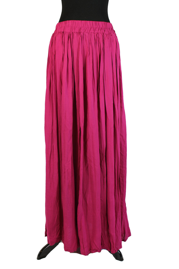 Pleated Maxi Skirt - Grape