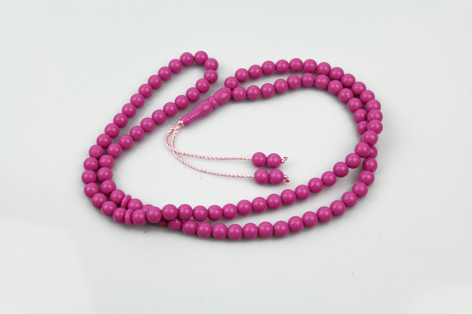 hot pink beaded tasbeeh