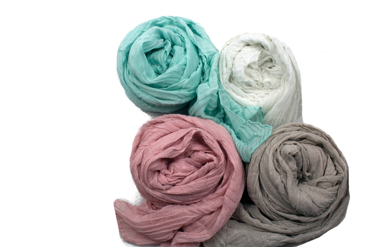 Pastel Pleated Bella Bundle - Pleated Hijabs
