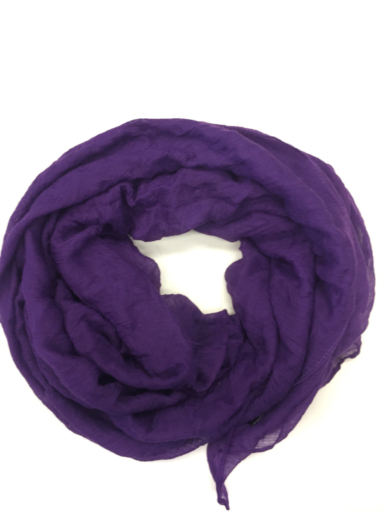 Crinkle Cotton Hijab - Purple