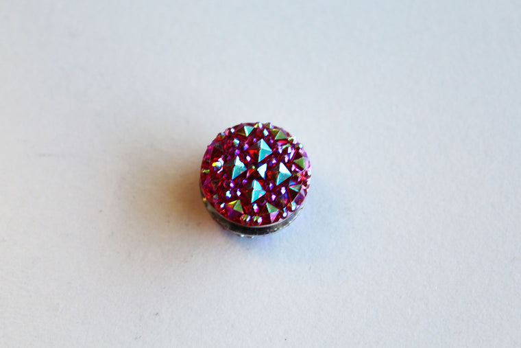 Rhinestone Magnetic Pin - Red