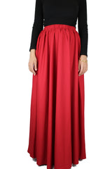 high waisted skirt in red with pockets