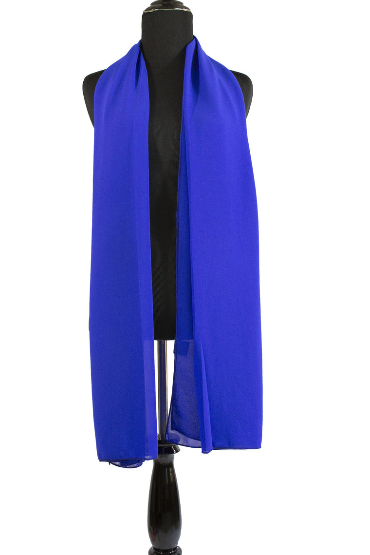 Premium Chiffon Hijab - Royal Blue