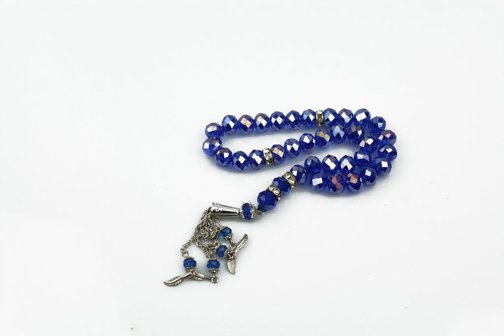 royal blue jeweled tasbeeh