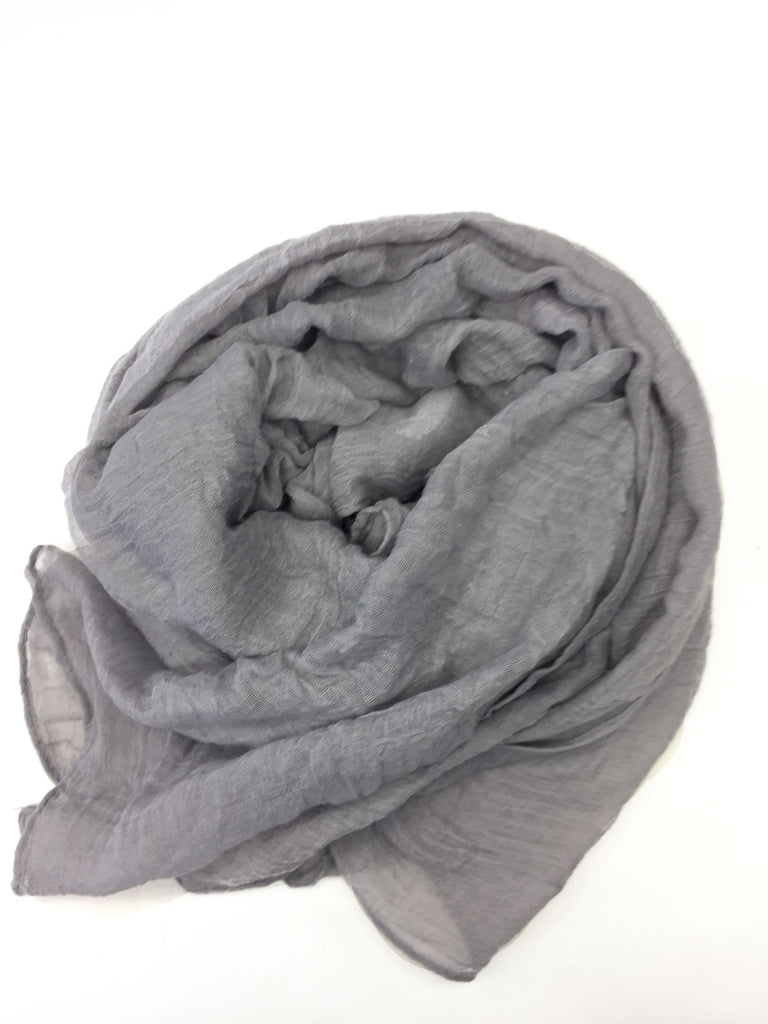 Crinkle Cotton Hijab - Silver