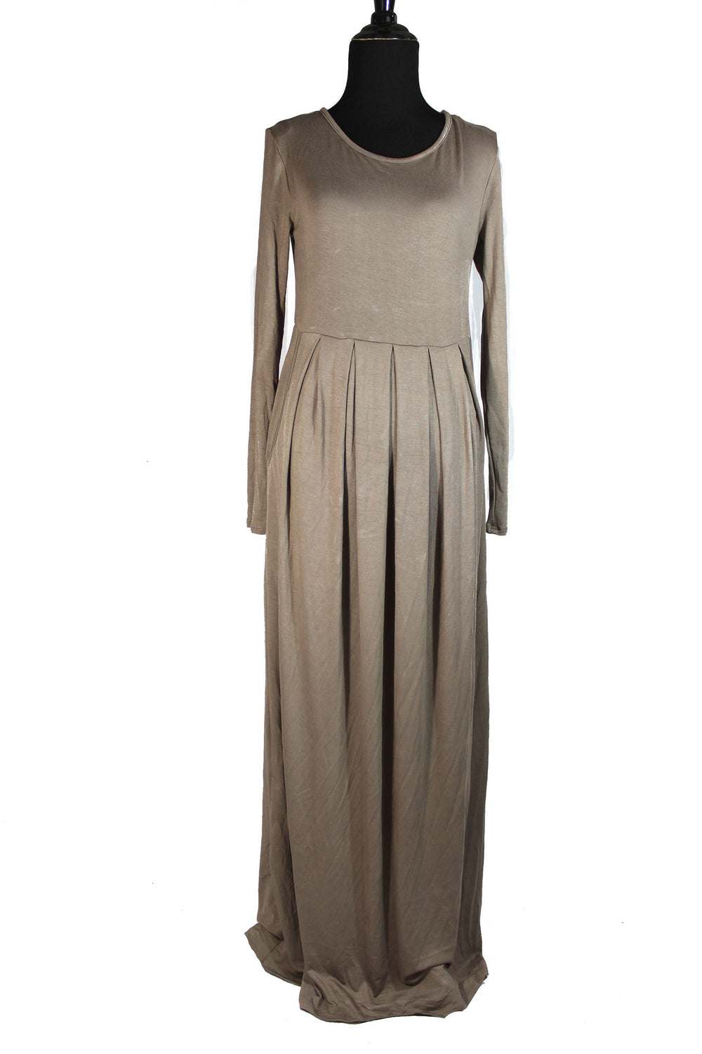 Maxi Dress with Pockets - Mocha